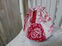赤い古い布のパッチワークのPoireSAC - LeCaretteルキャレット アトリエの日々のこと