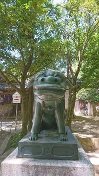 鼻の大きな狛犬下関市 - wawon3