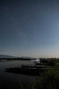 天の川月の光にかき消され - Tom's starry sky & landscape