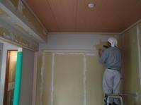 和室の塗り壁珪藻土スパニッシュ仕上げ - 快適!! 奥沢リフォームなび