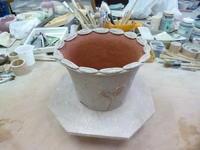 植木鉢制作④の彩色 - サンカクバシ 土と私の日記