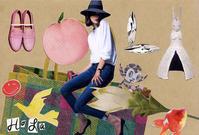 COLLAGE CARD #106 : HOLA「オラ」 - maki+saegusa