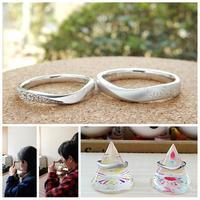 花火の結婚指輪オーダーメイド 岡山 - 工房Noritake