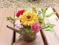生徒さん作品☆ガーベラポット - お花とマインドフルネスな時間 ~花工房GreenBell~
