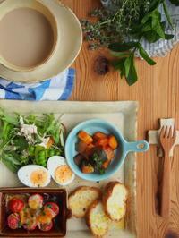 ラタトゥイユ朝ごはん - 陶器通販・益子焼 雑貨手作り陶器のサイトショップ 木のねのブログ