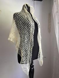 手編みモヘアショール126 - スペイン・バルセロナ・アンティーク gyu's shop