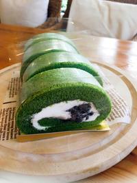 抹茶のロールケーキ - Cafe Myrtille