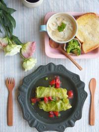 シャウエッセンロールキャベツの朝ごはん - 陶器通販・益子焼 雑貨手作り陶器のサイトショップ 木のねのブログ