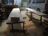 テーブルと座卓の天板削り - 手作り家具工房の記録