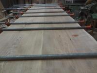ダイニングテーブル・座卓の天板の接ぎ合わせ。 - 手作り家具工房の記録