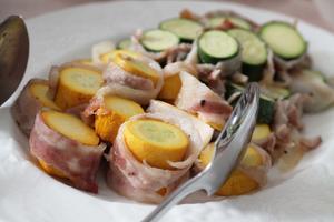 ズッキーニの豚肉ロール - 登志子のキッチン
