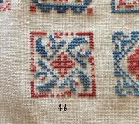 "SAL ""Petits carres brodes""  46 - 「Stitch +」 haruのクロスステッチ"