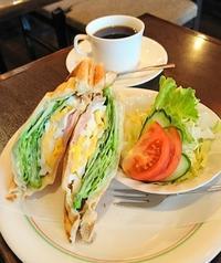 シャキシャキレタス&ハム&タマゴのトーストサンド・ブラジル館@神田 - カステラさん