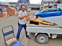 フットパスコースの「木道材料」が届きました - 浦佐地域づくり協議会のブログ