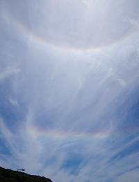 不思議な彩雲6月17日の空 - 雲空海