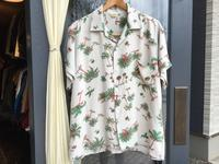 """50's """"ROYAL PALM"""" S/S Hawaiian shirt (mint condition) - BUTTON UP clothing"""