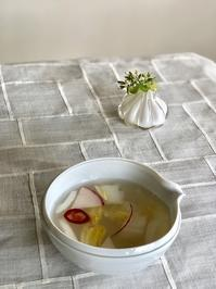 デザートは「桃」&「韓国餅」 - 今日も食べようキムチっ子クラブ (料理研究家 結城奈佳の韓国料理教室)