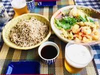 暑い日のベランダ蕎麦宴会! - ワタシの呑日記