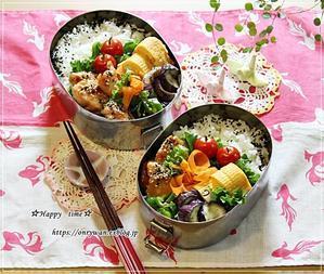 照焼きチキン弁当とアナベルと今月のネイル♪ - ☆Happy time☆