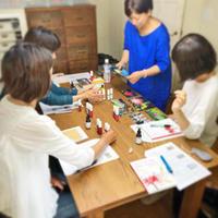「刺繍教室 de ホメオパシー講座 第1期(8)」開催しました。と、今日の琥珀。 - 浜松の刺繍教室 l'Atelier de foyu の 日々