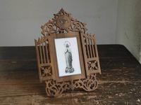 ルルドの聖母マリア オリーブの額 ミルクガラスプレート /G425 - Glicinia 古道具店