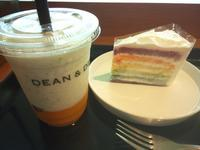 【Dean&Deluca】マンゴーラッシーフラッペとレインボーケーキagain - お散歩アルバム・・春日和バラ日和