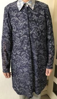 透けた布で長めのチュニック生徒の作品 - アトリエ A.Y. 洋裁教室