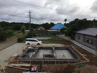 阿見の家Ⅰの基礎配筋を上から見る。 - gokita blog