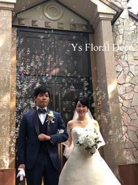 芍薬とバラのクラッチブーケ - Ys Floral Deco Blog
