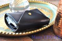 セミオーダー・革の宝石ルガトー・2つ折りコインキャッチャー財布 - 時を刻む革小物 Many CHOICE~ 使い手と共に生きるタンニン鞣しの革