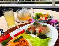 簡単朝食生ハムの生春巻きテラスご飯 - スタジオインターフェイス&カラーズイクス