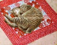 猫の絵完成 - 絵と庭
