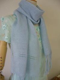卓上織り機でマフラー - アトリエひなぎく 手織り日記