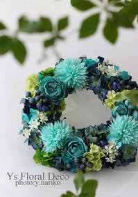 碧のリース - Ys Floral Deco Blog