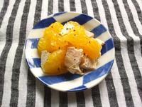 甘夏と鶏ハムのサラダ - Minha Praia