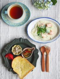 サーモンのクリーム煮 - 陶器通販・益子焼 雑貨手作り陶器のサイトショップ 木のねのブログ