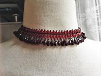 赤とエンジビーズのネックレス129値下げ - スペイン・バルセロナ・アンティーク gyu's shop