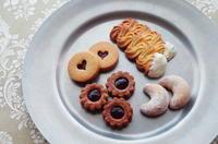 クッキー缶レッスン、4種類のサブレ。 - de ma cuisinette