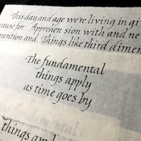 イタリック体和紙と墨で - 風の家便り