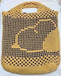 方眼編みバッグ(鈎針) - 日々綴り