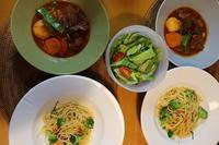庭の野菜でシチュー - 二つの台所