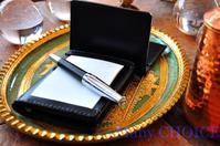 革の宝石ルガトー・ジョッターケースと名刺入れ・時を刻む革小物 - 時を刻む革小物 Many CHOICE~ 使い手と共に生きるタンニン鞣しの革