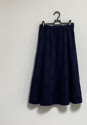 ドットジャガードのギャザースカート完成~~! - 新生・gogoワテは行く!