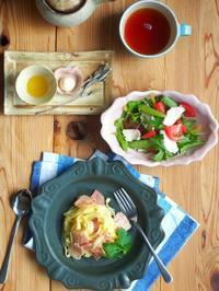 カルボナーラの朝ごはん - 陶器通販・益子焼 雑貨手作り陶器のサイトショップ 木のねのブログ