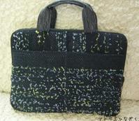 裂き織りでPCバッグ、生徒さん作品 - アトリエひなぎく 手織り日記