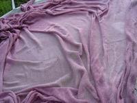 桑のみ染原液・スミレ色のシルクニット - 自然からの贈り物/草木染め