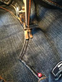 デニムバッグリメイク 縫製 - hirono -ものづくりノートー