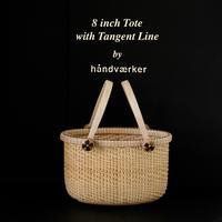 8 inch Tote with Tangent Line - handvaerker ~365 days of Nantucket Basket~
