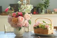 バラまつり日曜日の薔薇投げ入れ♪(5月19日) - Reon with LR & Roses