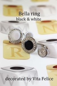 Ring もBlack & White で - 神戸インテリアコーディネーターのグルーデコ®教室☆Vita Felice☆(JGA認定校)